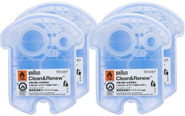 Braun CCR3+1 Clean & Renew Cleaning Cartrige 4-Pack