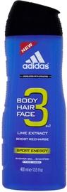 Dušigeel Adidas 3in1 Sport Energy, 400 ml