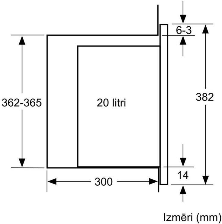 Integreeritav mikrolaineahi Bosch BFL520MB0
