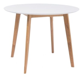Обеденный стол Signal Meble Mosso II White, 1000x1000x750 мм