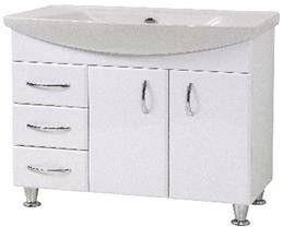 Sanservis Vega-75 Standart Cabinet with Basin White 74.5x80.5x52cm