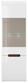 Black Red White Glass Cabinet Azteca Trio REG1W1D White