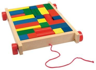 Woody Educational Cart With Blocks 90007