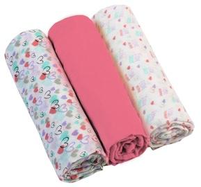 BabyOno Muslin Diapers Super Soft Pink 3pcs