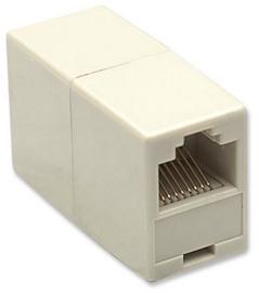 Intellinet Modular In-line Coupler UTP RJ45 x2 Beige 10pcs