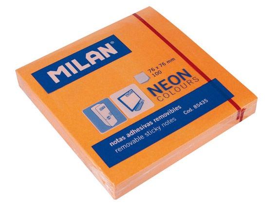 Milan Sticky Notes Neon Colours Orange 85435