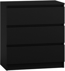 Top E Shop Chest of 3 Drawers Black