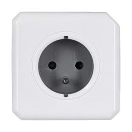 Allocacoc PowerCube Original Power Extension White/Grey