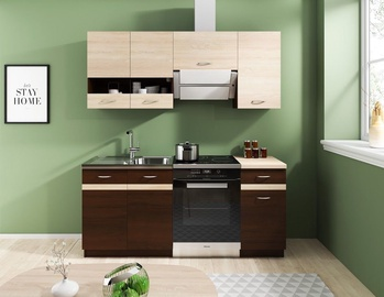WIPMEB Livia Kitchen 180 Dark Sonoma Oak
