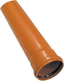 Plastimex Sewage Pipe Brown 160mm 1m