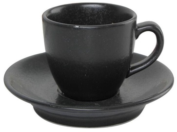 Porland Seasons Cup With Saucer 8cl Black