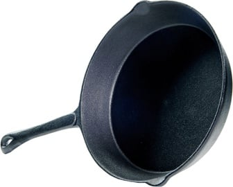 Fissman Grill Pan Cast Iron 25x4.6cm With Metal Handle 4094
