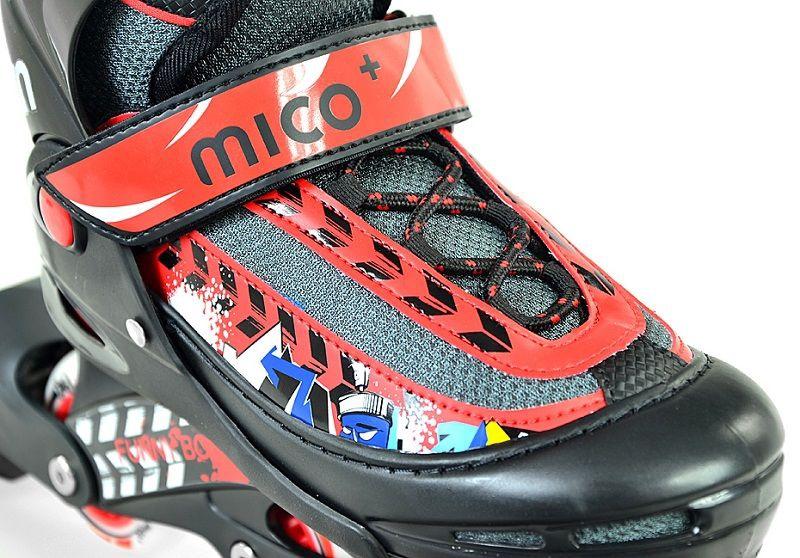 Rulluisud Mico Plus Funny Boy Black/Red, 30-33