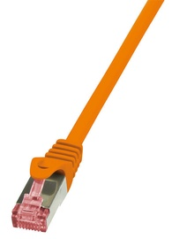 LogiLink Patch Cable Cat.6 S/FTP PIMF PrimeLine 0.25m Orange