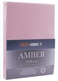 Простыня DecoKing Amber Old Lilac, 240x220 см, на резинке
