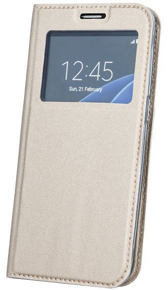 GreenGo Smart Look Book Case For Huawei P10 Plus Gold