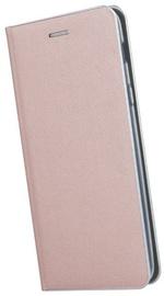 TakeMe Metal Edge Shine Book Case For Samsung Galaxy S10 Plus Rose Gold
