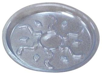 Lillepoti alus, plastik, läbipaistev, D 25,4 cm