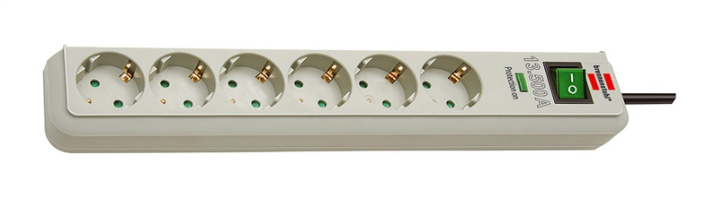 Brennenstuhl Power Cord Eco-Line 6x 1.5m Light Grey