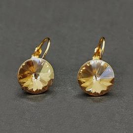 Diamond Sky Earrings Clarice II Golden Shadow With Swarovski Crystals