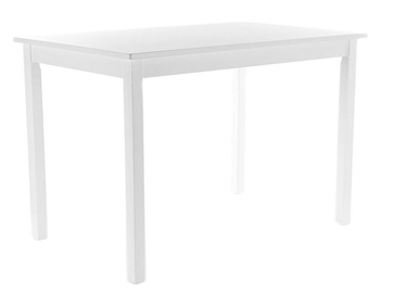 Обеденный стол Signal Meble Scandinavian Fiord, белый, 800x600x740мм