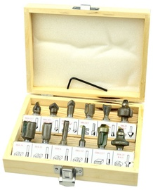 Geko Router Bit Set For Wood 8mm 12pcs
