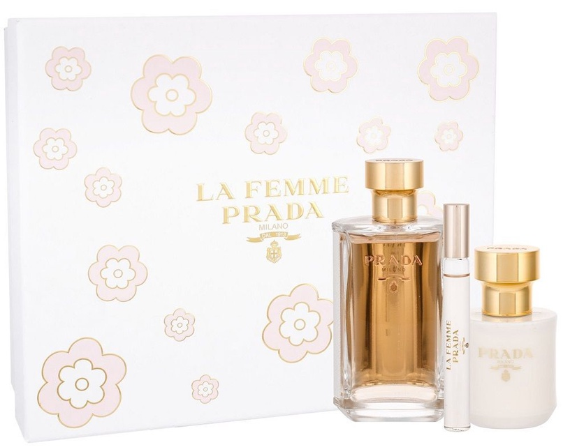 Prada La Femme De Prada 100ml EDP + Body Lotion 100ml + 10ml EDP New Design