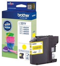 Brother LC221Y Cartridge Yellow