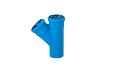 Magnaplast 3-Way Connector Pipe Blue 110mm