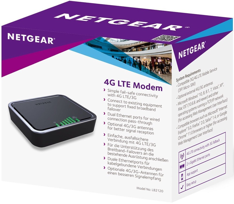 NETGEAR 4G Modem LB2120-100EUS
