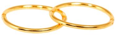 Caflon Fashion Sense Earrings 12.7mm Hoop Gold Plated