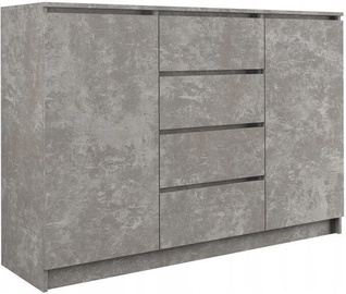 Top E Shop Chest of 2 Doors 4 Drawers Concrete