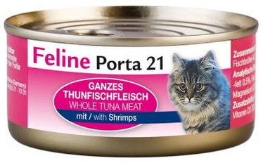 Feline Porta 21 Cat Wet Food w/ Tuna & Shrimps 90g