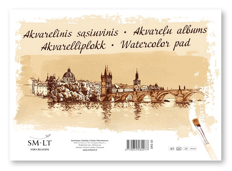 Akvarelliplokk SMLT A3/10