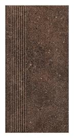 Paradyz Ceramika Clinker Tiles Granitos Brown With Stripes 30x60cm