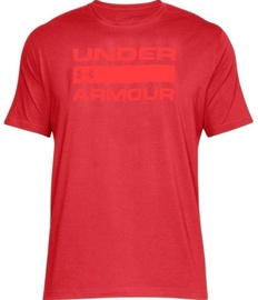 Under Armour T-Shirt Wordmark 1314002-600 Red M