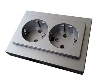 Liregus Socket Outlet With Epsilon Silver