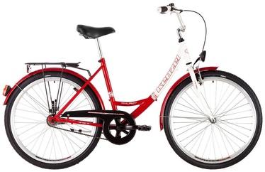 "Jalgratas Kenzel My Lady, valge/punane, 18"", 26"""