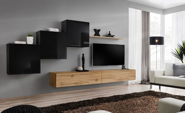 ASM Switch X Wall Unit Black/Wotan Oak