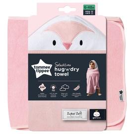 Tommee Tippee Splashtime Hug N Dry Towel Pink 6-48m