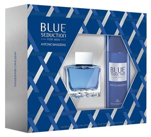 Komplekt meestele Antonio Banderas Blue Seduction 2pcs Set 200 ml EDT