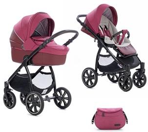 Универсальная коляска Noordi Fjordi 3in1 Leather Pink