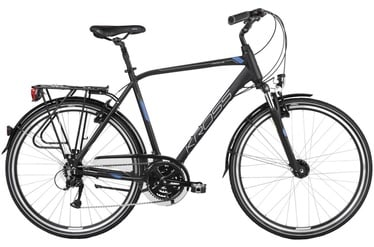 "Kross Trans 4.0 L 28"" Black Blue Silver Matte 19"