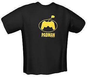 GamersWear PadMan T-Shirt Black L