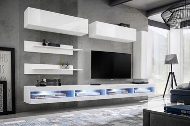 ASM Fly W Living Room Wall Unit Set White WW FY W1