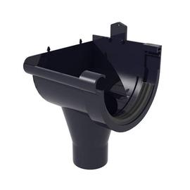 Scala Plastics PVC Rain Drainage Outlet G80 Left Brown