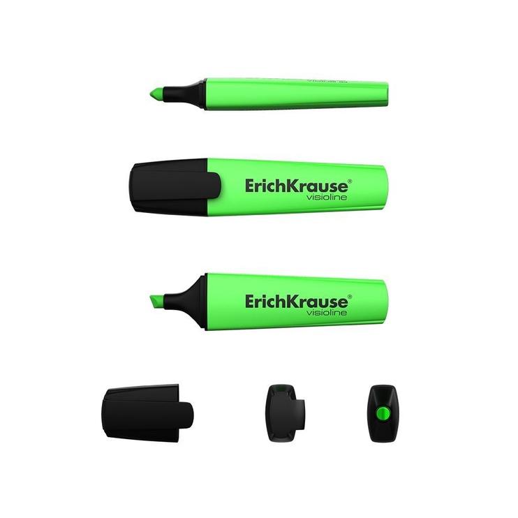 ErichKrause Visioline Highlighter V-12 10pcs Green