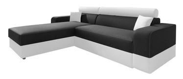 Угловой диван Idzczak Meble Infinity Lux Black/White, левый, 184 x 184 x 95 см