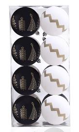Jõulupuu ehe DecoKing Paris White/Black, 16 tk