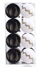 Елочная игрушка DecoKing Paris White/Black, 16 шт.